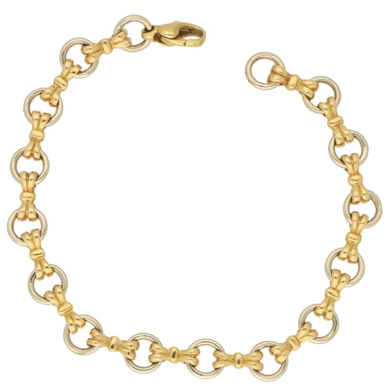 Vintage Openwork Hoop Bracelet with Bow Links, c. 1992