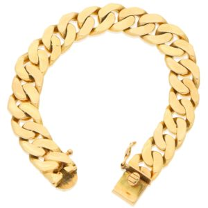 Cuban Link Chain Bracelet in Yellow Gold