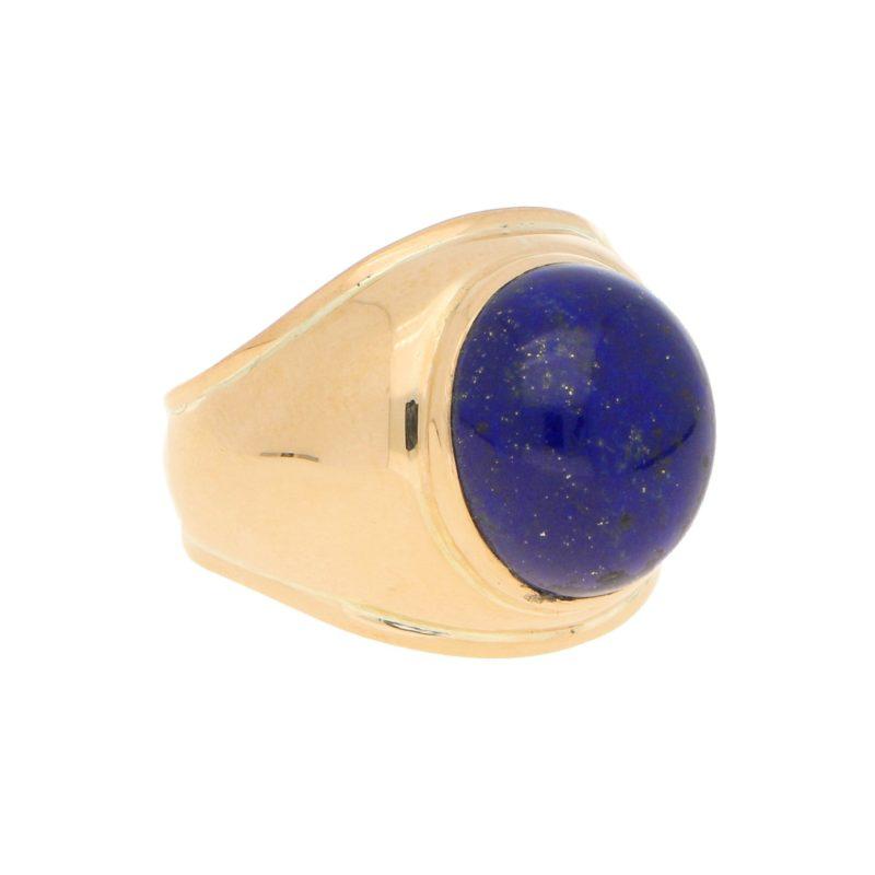 Lapis Lazuli Bombe Ring in Rose Gold