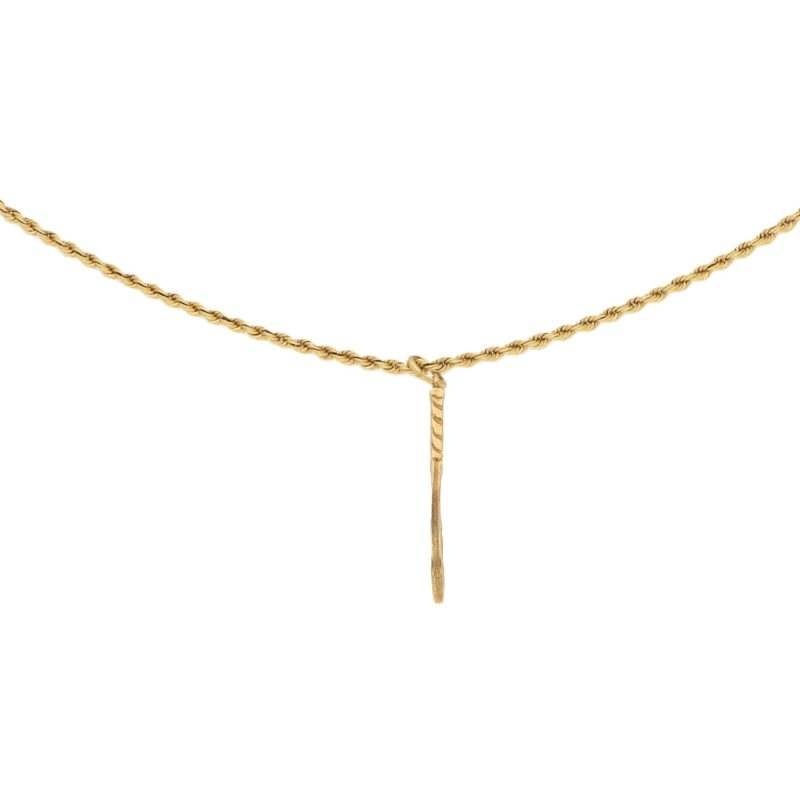 Vintage Tennis Racket Pendant in Yellow Gold, c. 1990