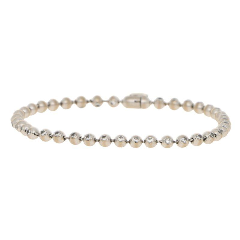 Cartier: Diamond Line Bracelet in White Gold