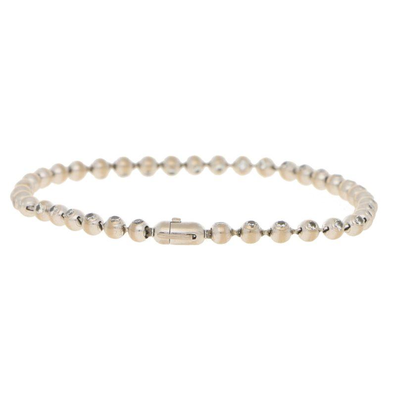 2.04ct Diamond Line Bracelet in White Gold
