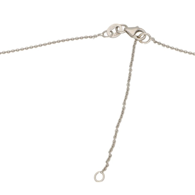 Diamond Cross Pendant Set in 18 Carat White Gold