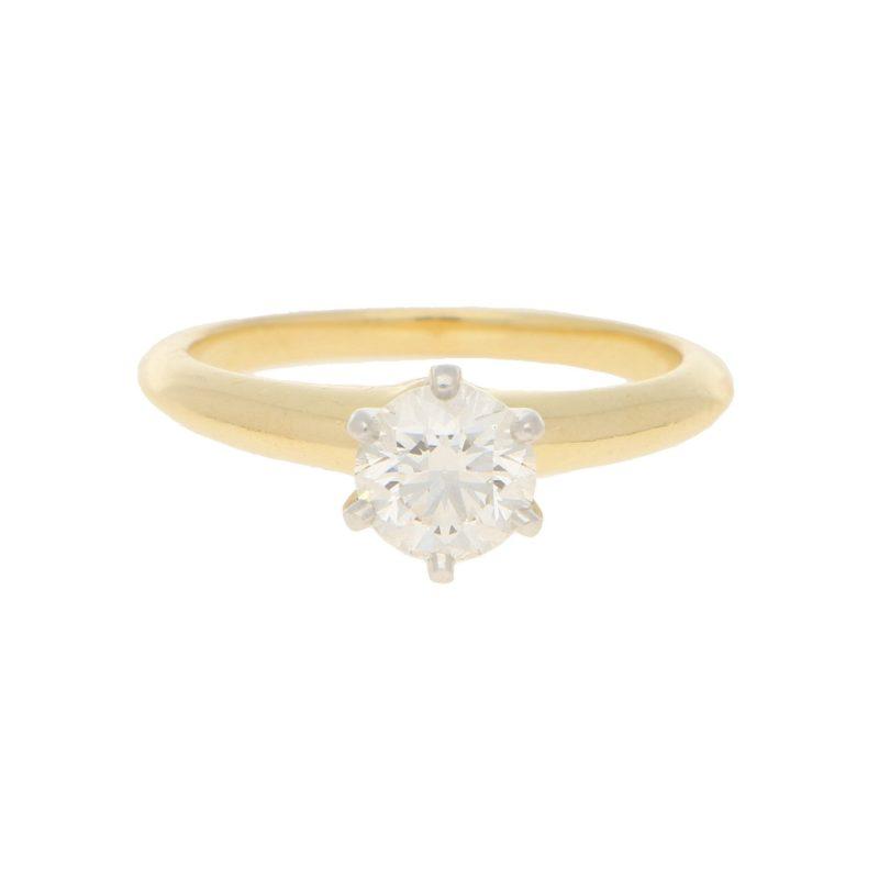 0.86ct Solitaire Diamond Ring
