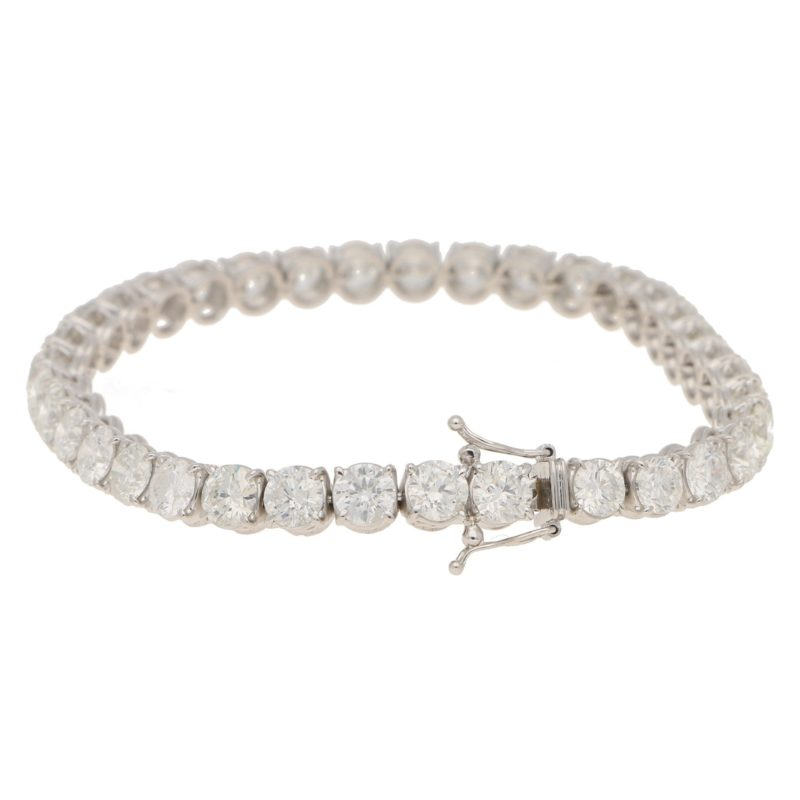 19.6ct Diamond Line Bracelet in White Gold