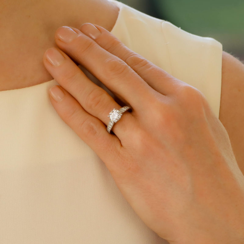 Solitaire diamond engagment ring 1.43 carat