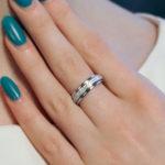 Wide Diamond ring