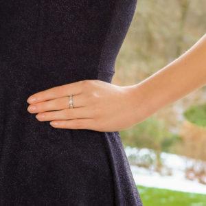 Baguette Diamond Full Eternity Ring in Platinum