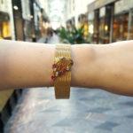 1960's ruby diamond gold bracelet