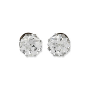 Solitaire diamond stud earrings 12.64carats