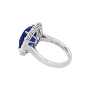 7.62ct carat sapphire and diamond platinum engagement ring