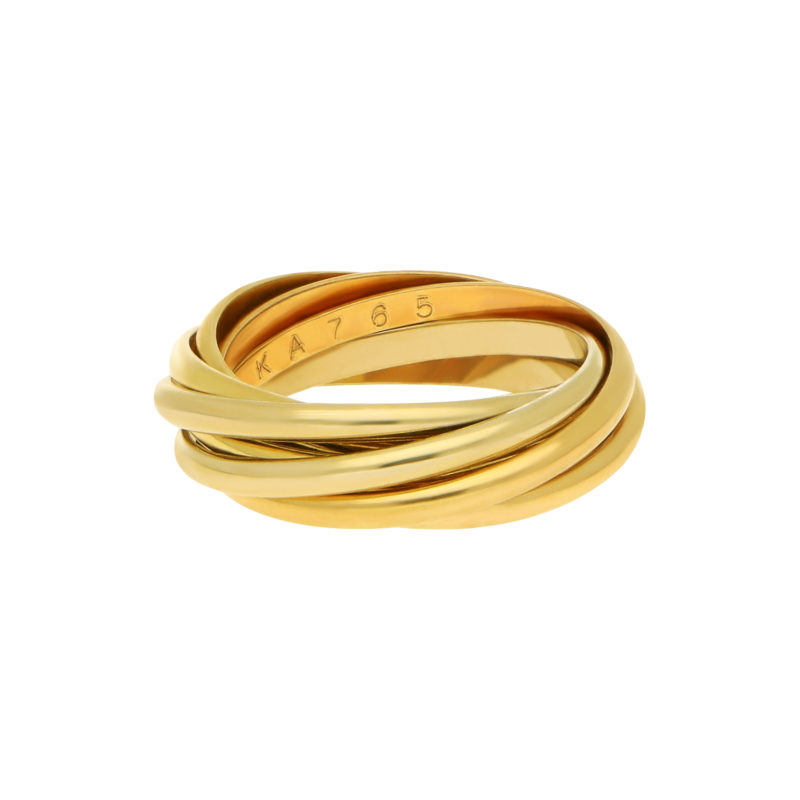 Les Must de Cartier Seven Band Trinity Ring 18K Gold