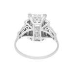 Art Deco 6.60ct Baguette-Cut Diamond Solitaire Ring in Platinum