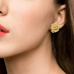 Kieselstein Cord 18ct yellow gold alligator ear clips