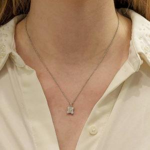 Diamond pendant on chain