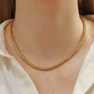 Vintage Chunky Chain Necklace in 18k Yellow Gold