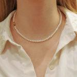 Single row freshwater pearls