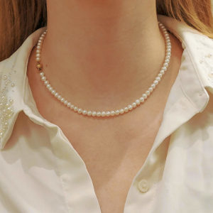 Single row freshwater pearls