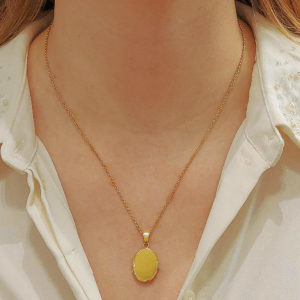 Yellow Gold Locket in Solid 18K Gold
