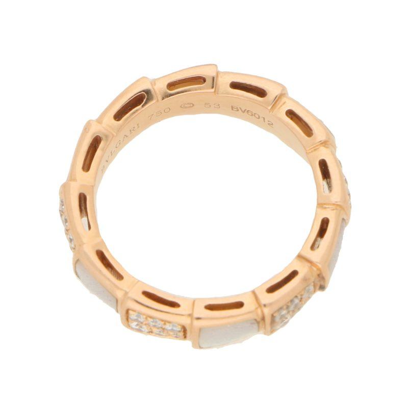 Bvlgari Serpenti Ring in 18 carat Rose Gold