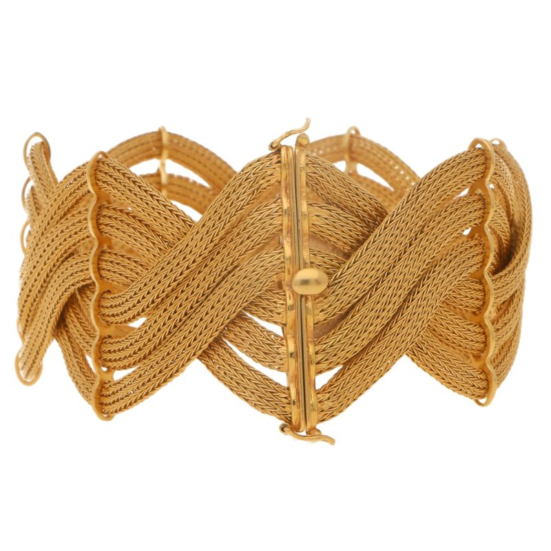 1960's Italian Rose Gold Braided Bracelet