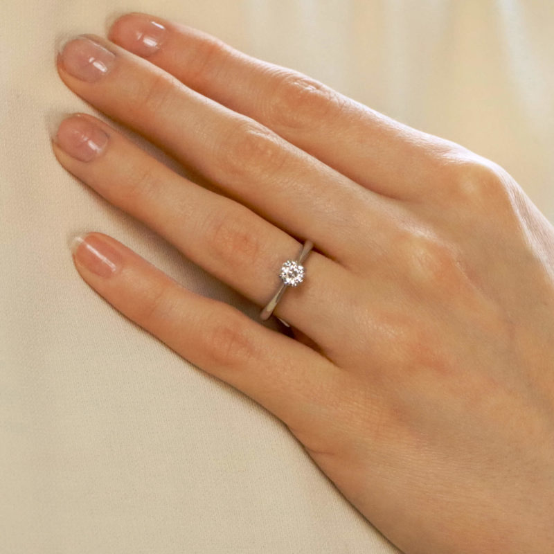 GIA Certified 1.00ct Diamond Solitaire Ring