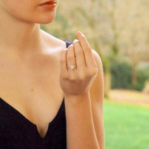 GIA Certified Art Deco Style Asscher Cut Diamond Ring