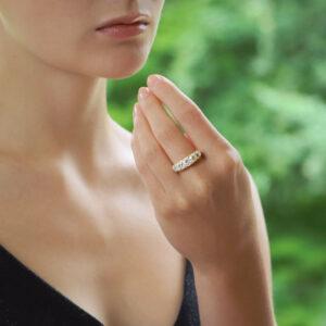 Late Victorian Old Cut Diamond Five Stone Ring