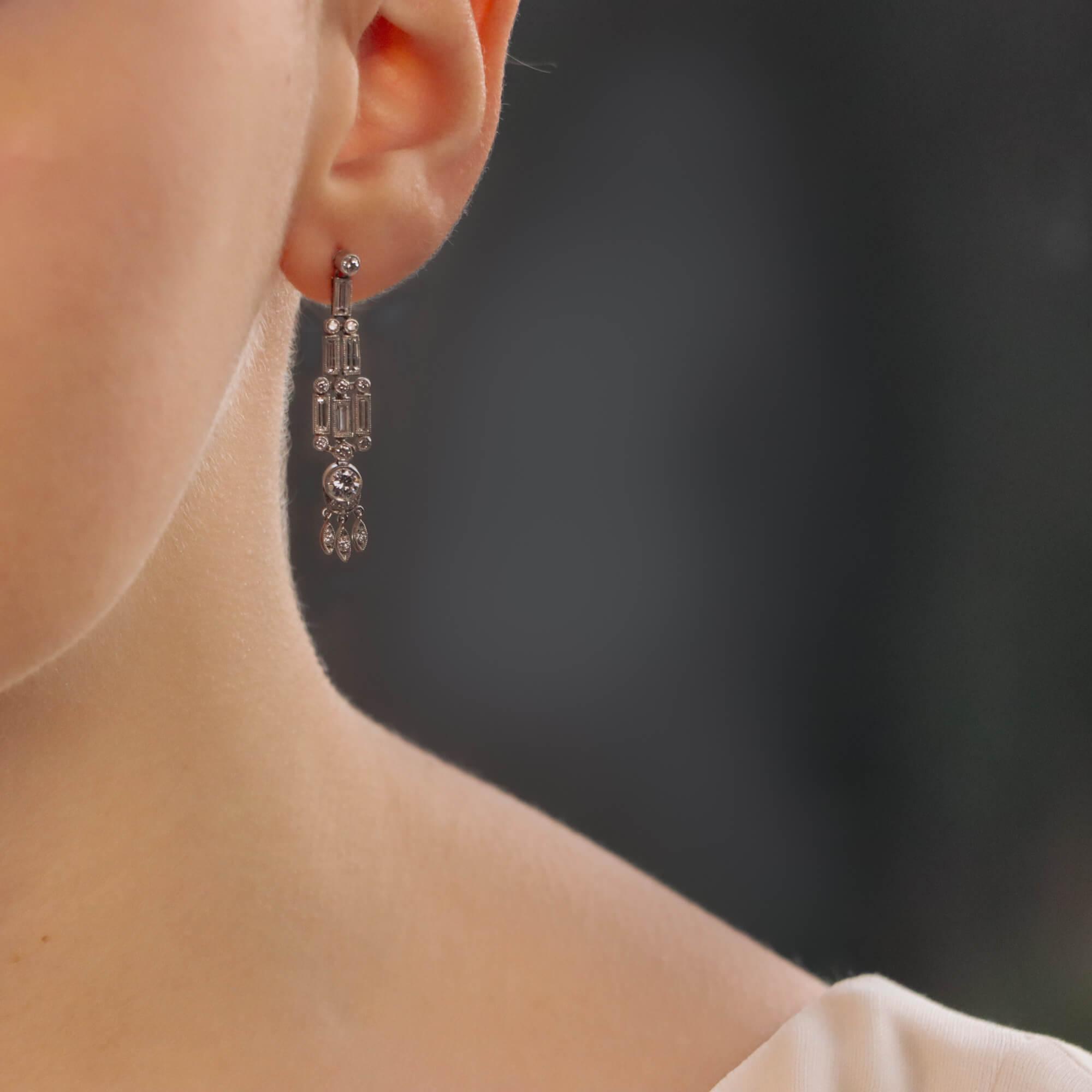 Art Deco Style Chandelier Drop Earrings At Susannah Lovis Antique Jewellery