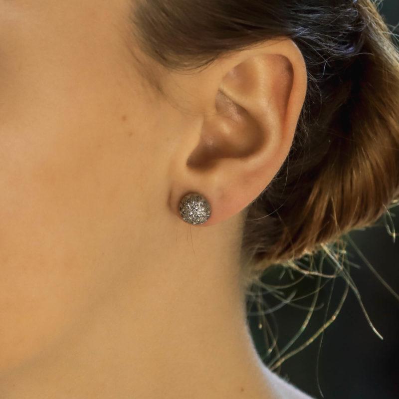 Vintage diamond earstuds