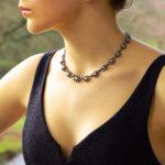 Victorian diamond cluster necklace