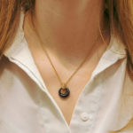 Vintage Van Cleef & Arpels Onyx Pendant Necklace in Yellow Gold