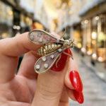 Chaumet Paris Diamond Gold Bug Brooch