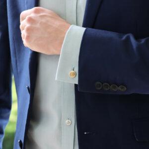Vintage Bulgari gold enamel cufflinks