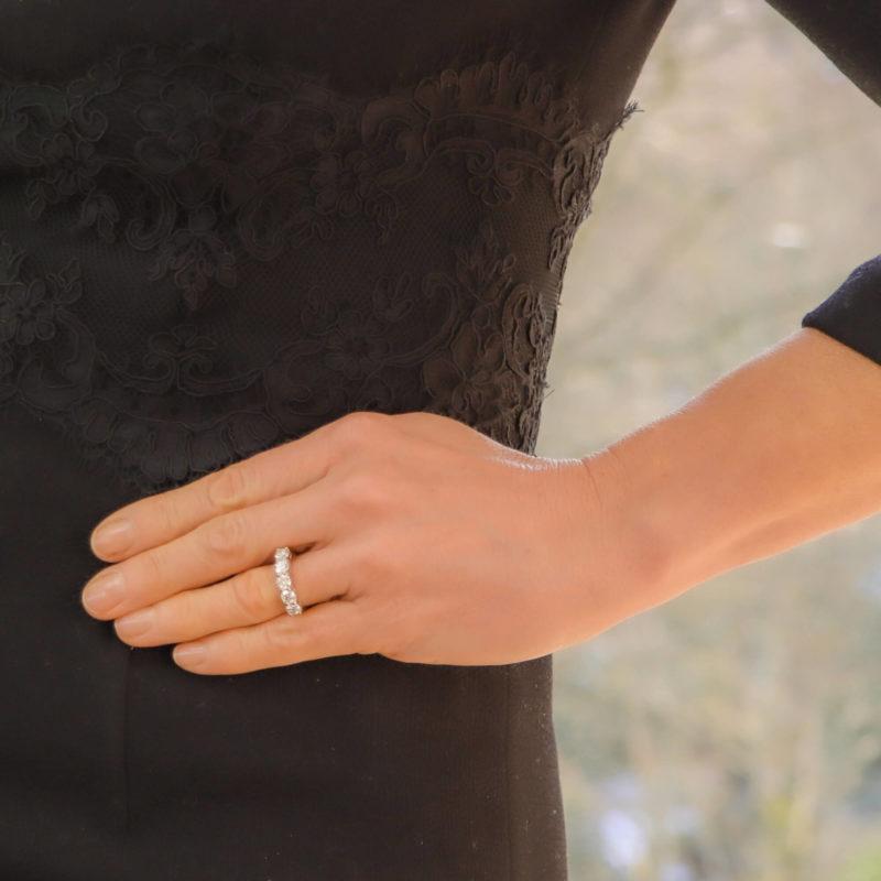 Round Cut Diamond Five Stone Ring