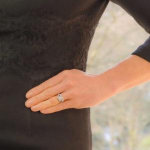 Edwardian Old European Cut Diamond and Sapphire Ring