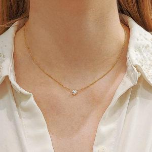 Round Brilliant Cut Diamond Single Stone Pendant