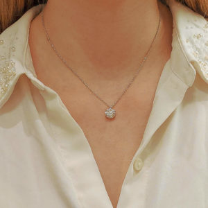 GIA Certified, 2.40ct, D colour Single Diamond Pendant
