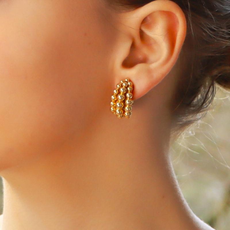 "Boucheron ""Grains de Raisin"" clip earrings in yellow gold"