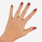 Bvlgari: 18ct rose gold B Zero 1 ring
