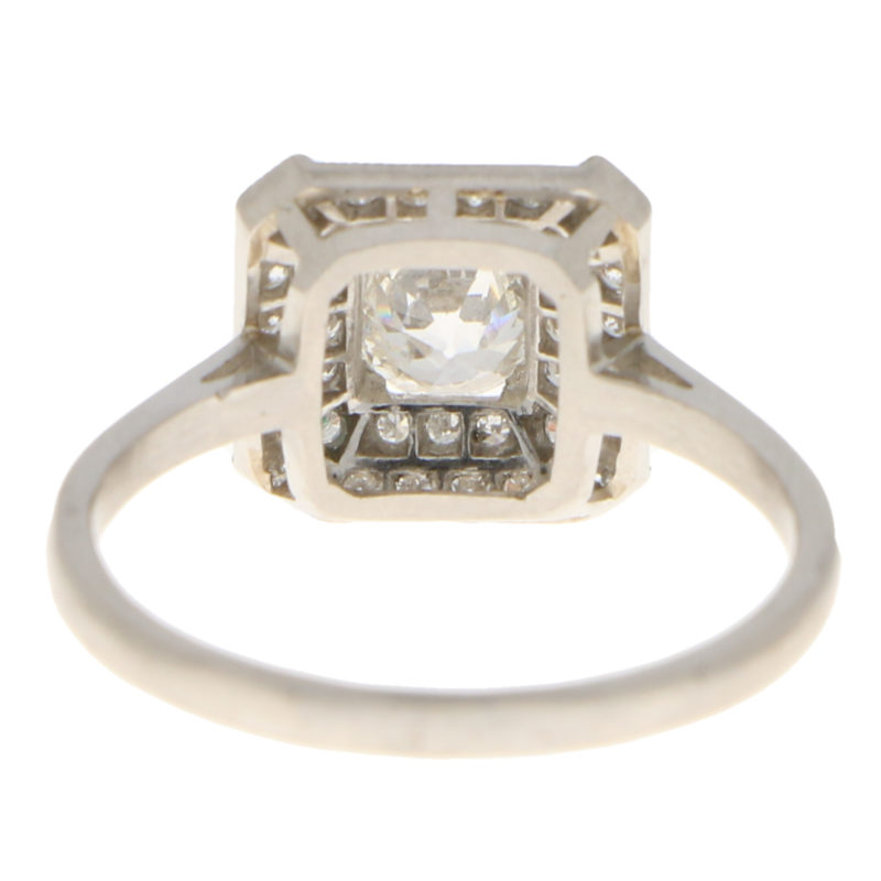 Art Deco Inspired Old Cut Diamond Ring
