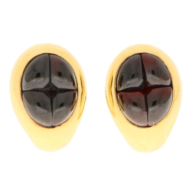 Pomellato Deep Red Garnet Clip-On Earrings