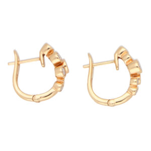 Diamond Bubble Hoop Earrings in Rose Gold