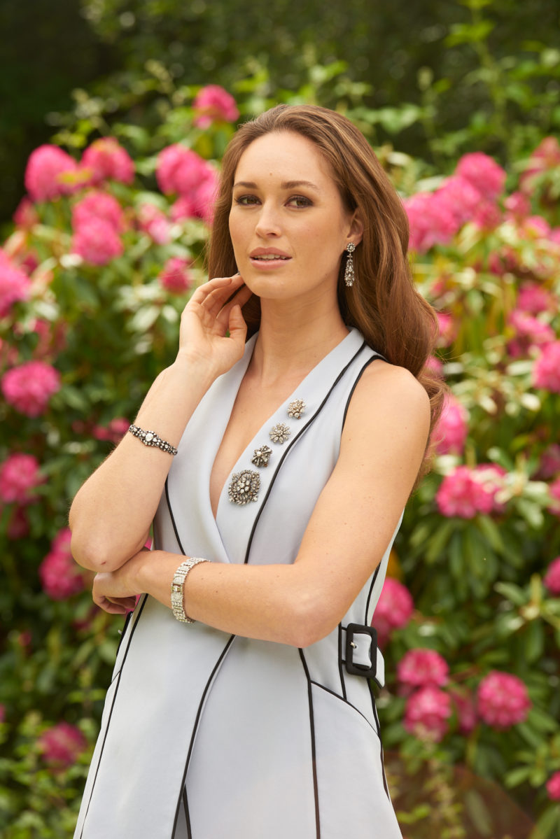 16.17ct Diamond Negligee Waterfall Drop Earrings in Platinum