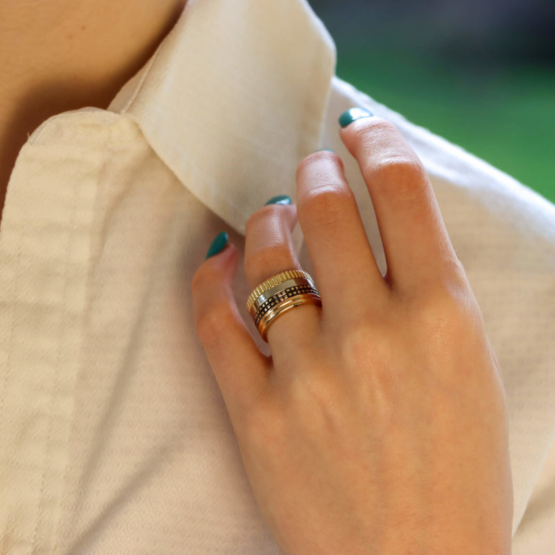 "Boucheron Paris ""Quatre Classique"" Ring in Mixed Gold"