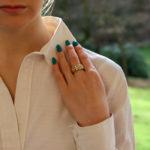 Cartier Pavé Diamond Tricolour Gold Ring Size 55