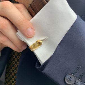 Vintage Boucheron gold 1940's stirrup cufflinks
