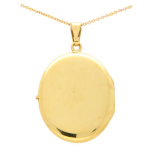 18ct yellow gold oval locket