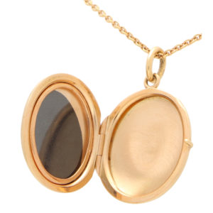 Rose Gold Locket in Solid 18K Gold