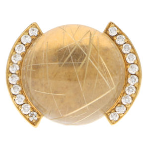 Cartier Rutilated Quartz and Diamond Ring